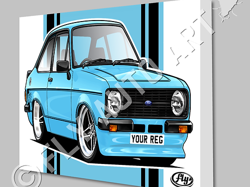 MK2 FORD ESCORT MEXICO CANVAS AND POSTER - CHOICE OF COLOURS