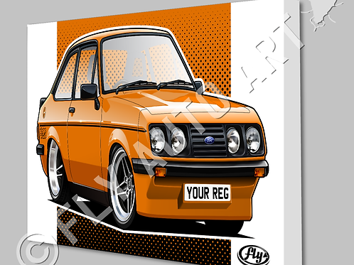 MK2 FORD ESCORT RS2000 CANVAS AND POSTER - CHOICE OF COLOURS