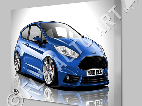 FORD FIESTA ST MK7.5 CANVAS OR POSTER