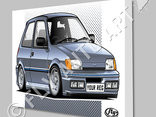FORD FIESTA XR2i CANVAS AND POSTER - CHOICE OF COLOURS
