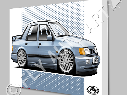 FORD SIERRA SAPPHIRE COSWORTH - CANVAS AND POSTER - CHOICE OF COLOURS