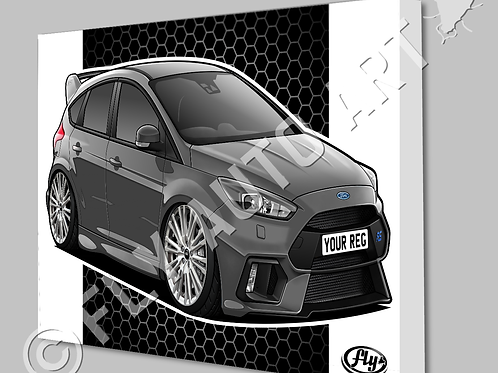 FORD FOCUS RS MK3 CANVAS OR POSTER
