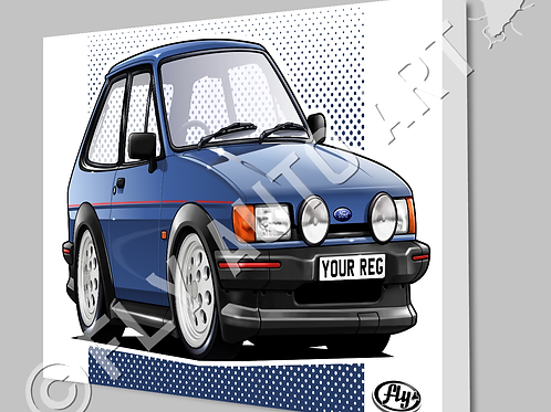 MK2 FORD FIESTA XR2 CANVAS OR POSTER - CHOICE OF COLOURS