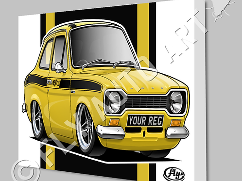 MK1 FORD ESCORT MEXICO CANVAS AND POSTER - CHOICE OF COLOURS