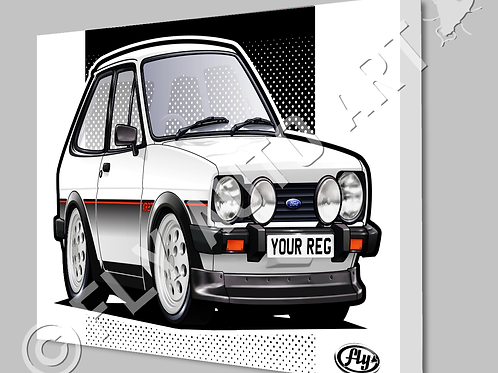 MK1 FORD FIESTA XR2 CANVAS OR POSTER - CHOICE OF COLOURS