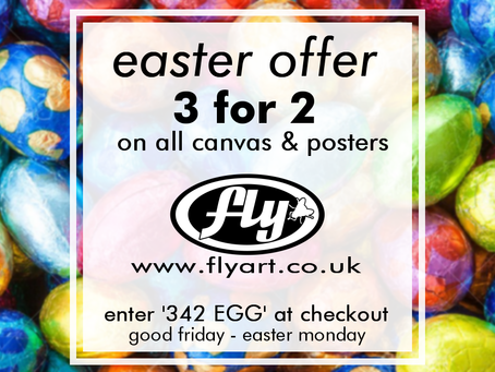 3 for 2 on canvas and posters - Easter Weekend Only
