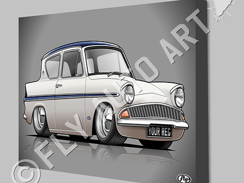 FORD 105e CANVAS AND POSTER - CHOICE OF COLOURS