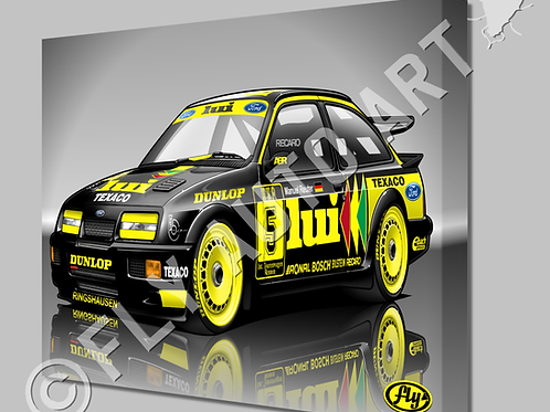 FORD SIERRA RS500 COSWORTH LUI RACECAR - CANVAS AND POSTER -