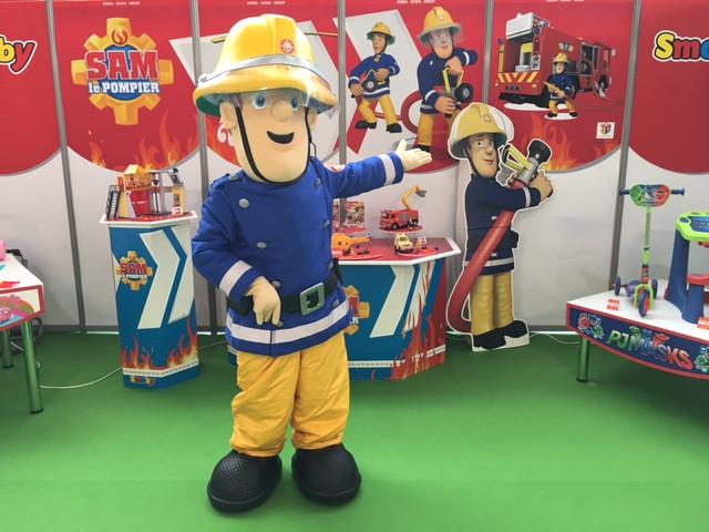 mascotte officielle sam le pompier