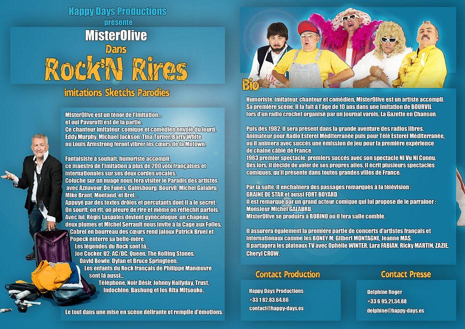 Dossier De Presse MisterOlive One Man show Imitation comique