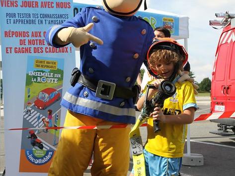 Sam le pompier mascotte officielle