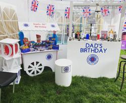 Rangers FC, candy carts, glasgow hires, sweet carts, birthday ideas, garden party, wedding ideas, ay