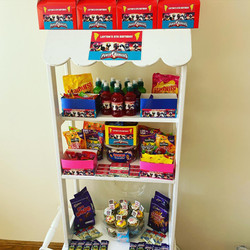 Power Rangers, Rangers FC, candy carts, glasgow hires, sweet carts, birthday ideas, garden party, we