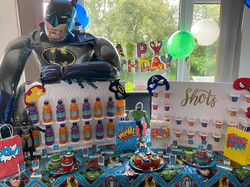 superhero party, Rangers FC, candy carts, glasgow hires, sweet carts, birthday ideas, garden party,