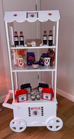 Netflix theme, netflix party, candy cart glasgow, candy cart ayrshire, birthday themes