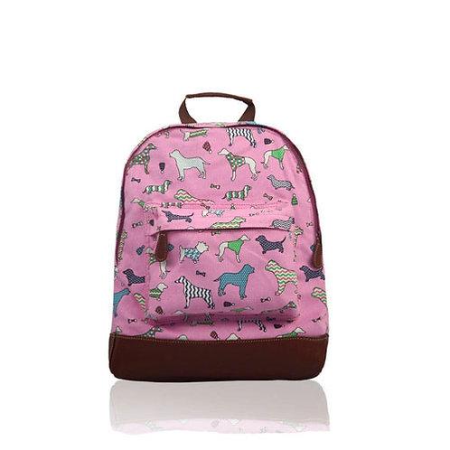 Pink Dog print Rucksack