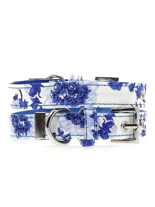 Blue Floral Bouquet Collar & Lead Set