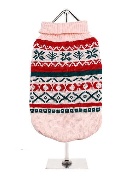 Oyster Pink Fair Isle Sweater