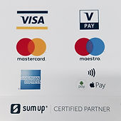 Sum Up Certified Partner - Mastercard, Visa, American Express Card payments accepted