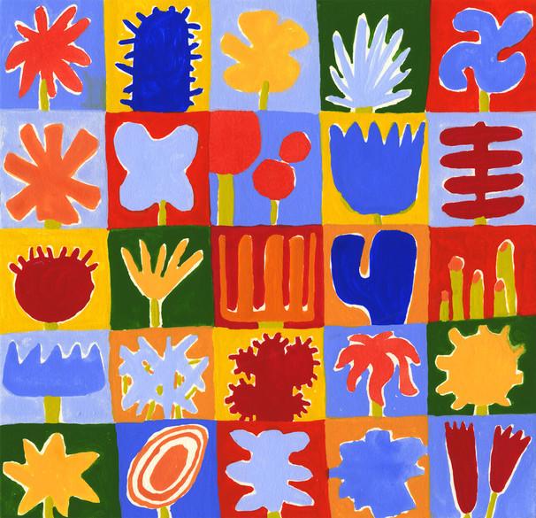 25 Flowers pattern