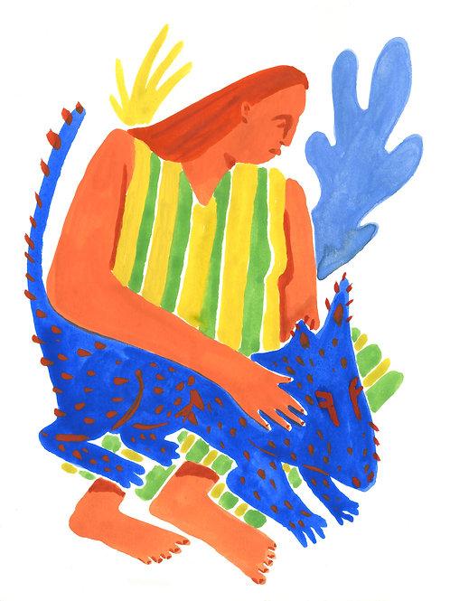 """Woman and Her Companion"" print"