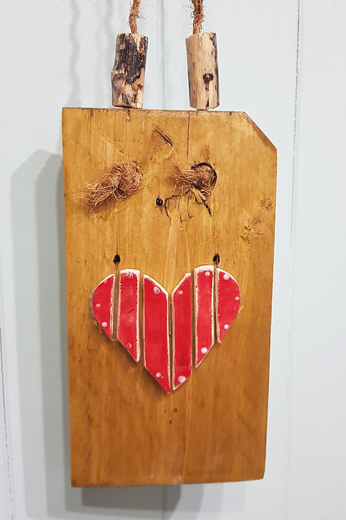 Heart on plaque