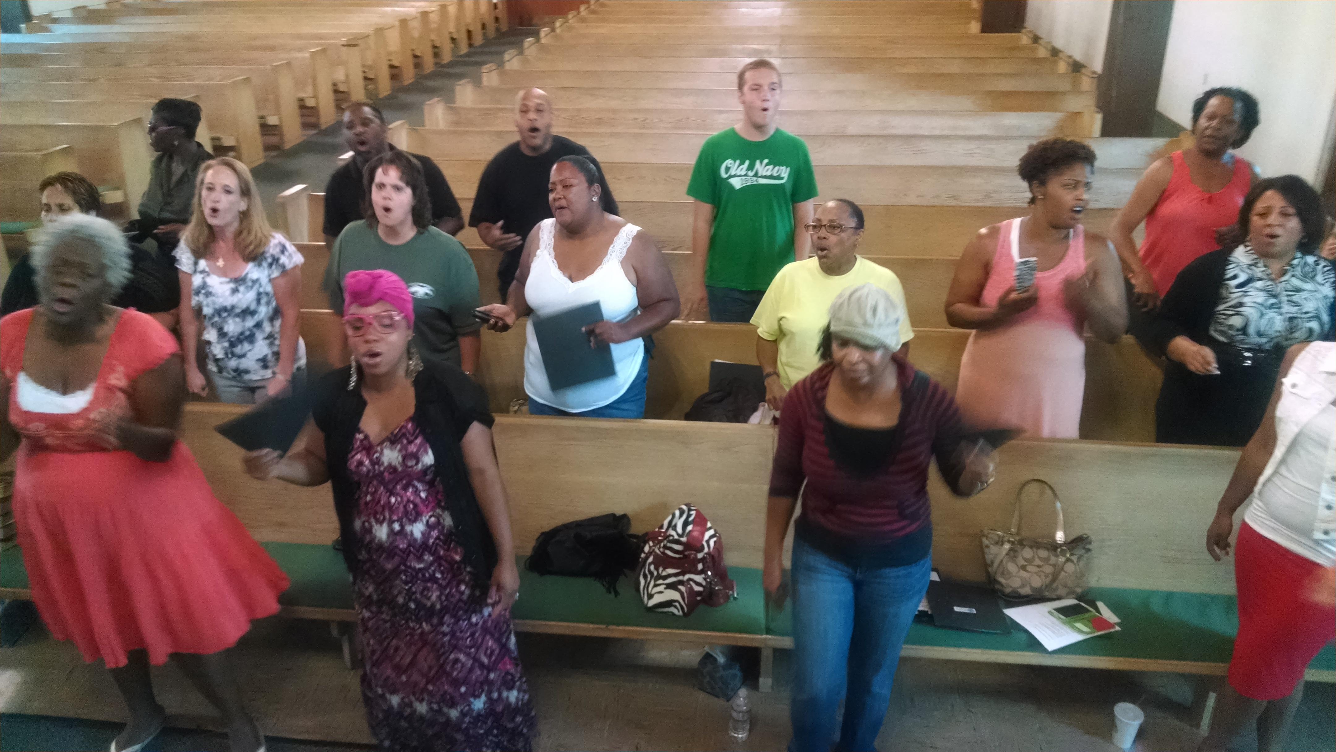 UGA Mass Choir Rehearsal