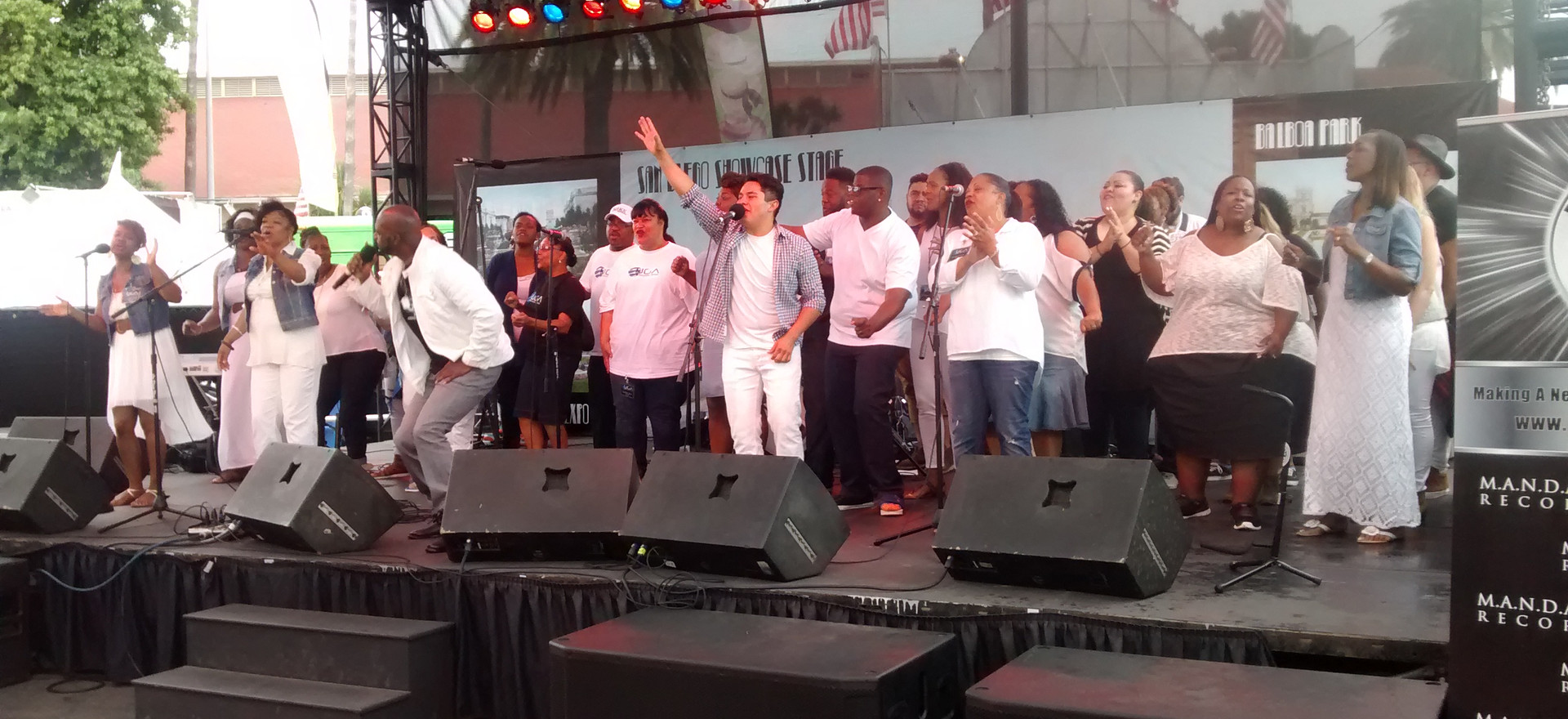 Gospel Artists, Eddie Baltrip with UGA at San Diego Fair