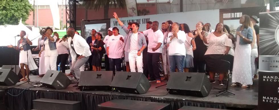 Gospel Artists, Eddie Baltrip with UGA at San Diego Fair