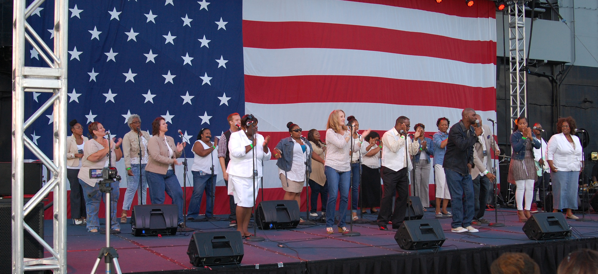 UGA performs during Gospel Day aboard U.S.S. Midway