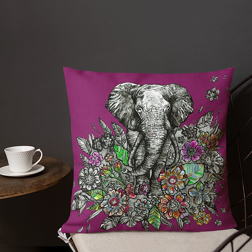 Spirit Animal: Elephant_Premium Pillow