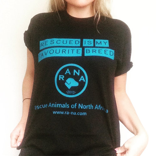 RANA Rescued is our Favourite Breed T-shirt