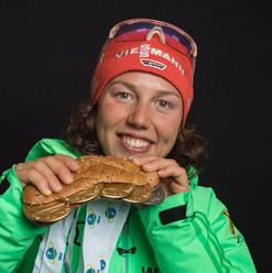 Weltmeisterin Biathlon