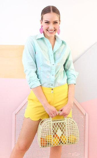 Camisa 100% algodão bordada
