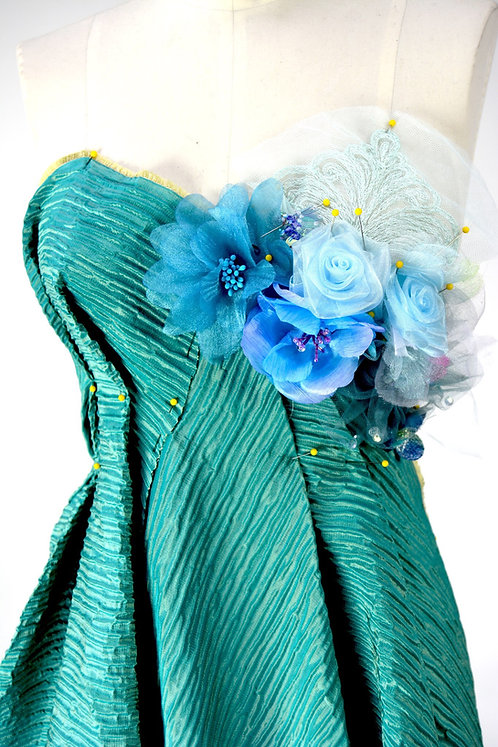 Sea Ripple Bouquet Couture Gown