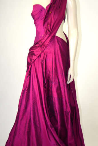 Climbing Rose Couture Gown
