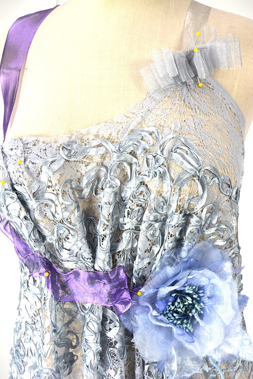 Silver Lilac Lilt Couture Gown