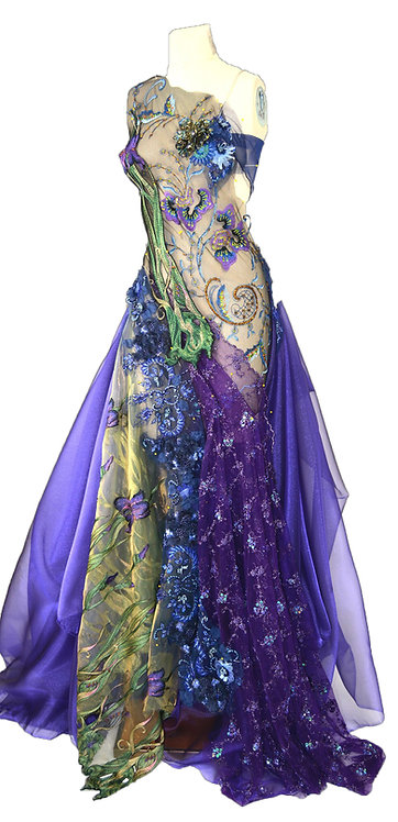 Undersea Iris Couture Gown