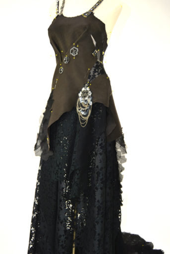 Leather Lace and Iron Couture Gown
