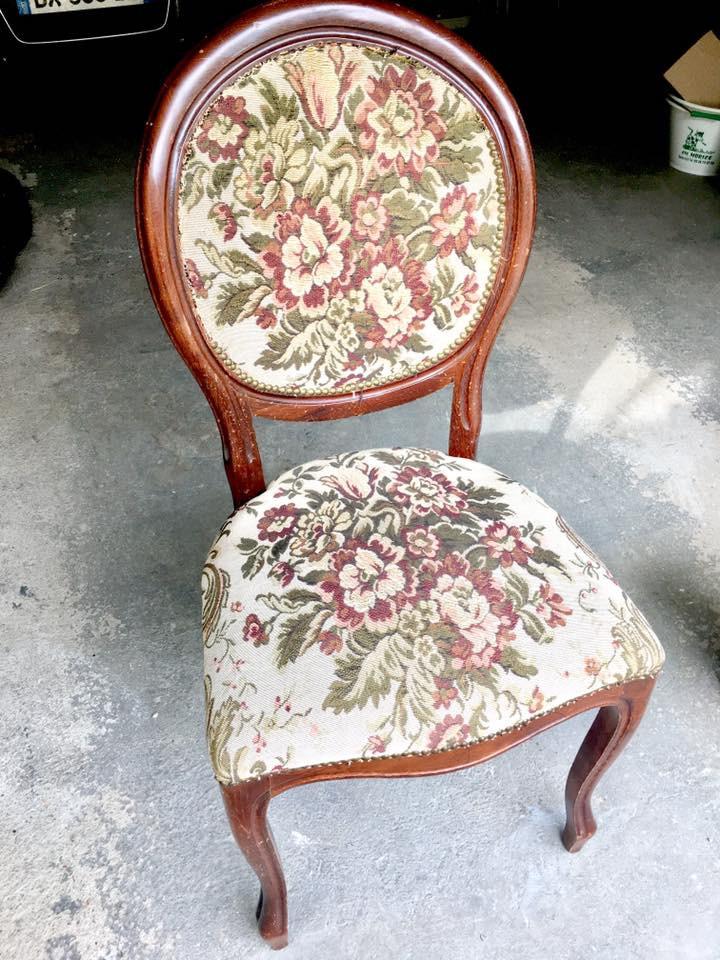 Renover Une Chaise Medaillon envie de modernité et de douceur - rénovation d'une chaise