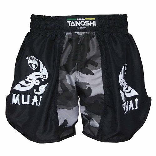 Shorts para Muaythai Kan Camuflado Cinza Estampado