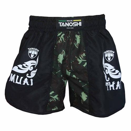 Shorts para Muaythai Kan Camuflado Verde Estampado