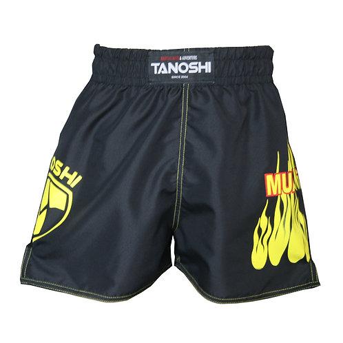 Shorts para Muaythai Fire Amarelo Estampado