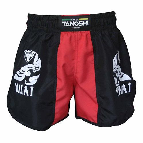 Shorts para Muaythai Kan Vermelho Estampado
