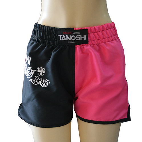 Shorts para Muaythai Half Pink Verde Estampado
