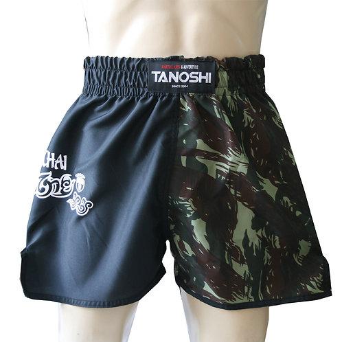 Shorts para Muaythai Half Camuflado Verde Estampado
