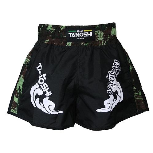Shorts para Muaythai TRNG Camuflado Verde Estampado