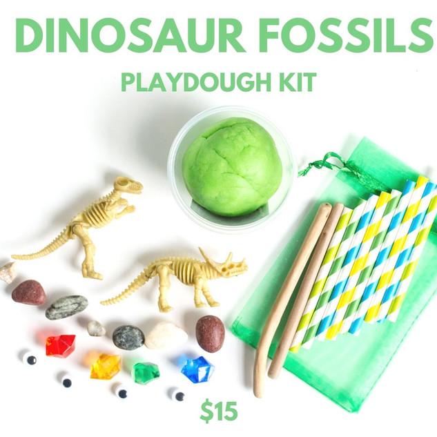 Dinosaur Fossils Playdough Kit