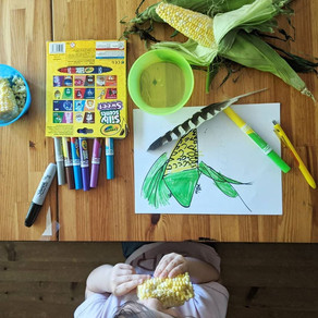 Observational Drawing - Corn