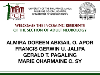 Welcome Incoming Residents of Adult Neurology